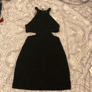 Bodycon cut out dress- Black size small